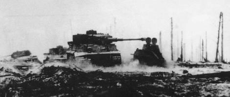 Tiger 1 in battle.
