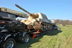 Jagdtiger being moved to a new home in the U.S.