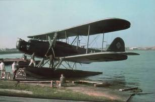 Heinkel He 59 floatplane air-sea rescue aircraft.