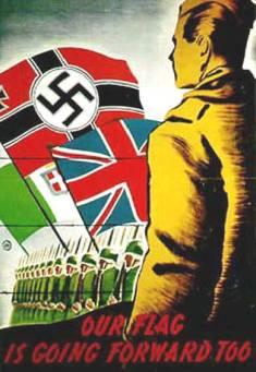 "German WWII propaganda poster-""UK join us"""