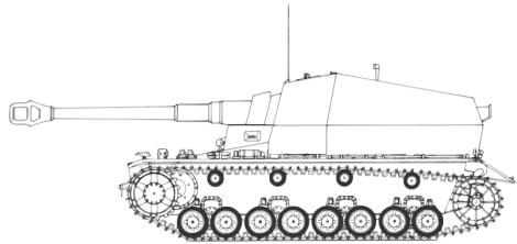 10.5 cm K gepanzerte Selbstfahrlafette diagram.