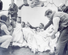 Survivors from German submarine U-175 after being sunk by USCGC Spencer, April 17, 1943.