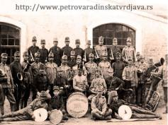 Austro-Hungarian military band, Petrovaradin Fort, Vojvodina,Serbia, beginning of the 20th century.