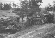 Finland in June 1944 in the vicinity of the road that leads from Ihantala after Penjoki.