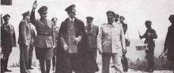Hitler, President of the Croatian Independent State Ante Pavelic and Hermann Goering in Tyskland, 1941.