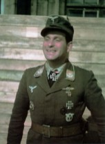 Oberleutnant Johann Klaus after receiving Ritterkreuz at 26 March 1944.