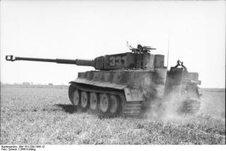 "A Tiger I assigned to the SS-Pz. Korps ""Leibstandarte Adolf Hitler"" operating in France."
