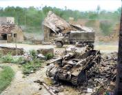 Knocked out Panzer IV, August 1944.