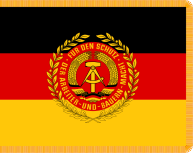 1960–1990 Regimental colours (Truppenfahne) of Nationale Volksarmee.