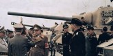 Hitler and Goering inspecting a Jagdtiger and other panzer/armoured vehicles.