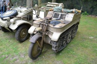 Schwimmwagen and Sd.Kfz. 2 – Kettenkrad at the Militracks Overloon 2012 - Oorlogsmuseum Overloon, Netherlands.