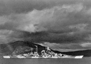 Tirpitz in the Ofotfjord/Bogenfjord, Norway.