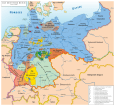 Map of German Reich 1871–1918.