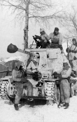 A Panzerjäger (tank destroyer) Marder III, Kharkov, February 1943 of the 1st SS Panzer Division.