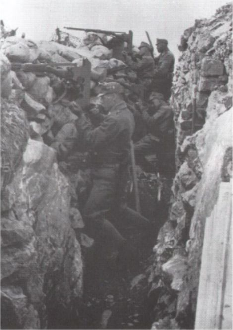 Austro-Hungarian trench at the Soča (Isonzo).