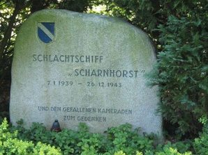 Memorial for Battleship Scharnhorst's crew at Wilhelmshaven.