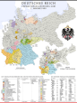 Administrative divisions of the German Empire on 1 January 1900.