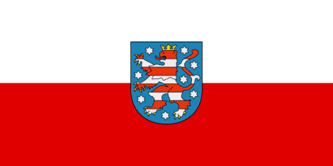 State service flag of Thuringia.