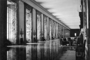 Marble Gallery of the New Reich Chancellery.
