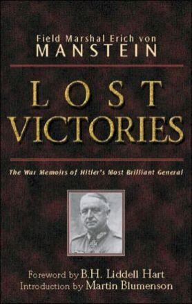 Cover of Field Marshal von Manstein's book Lost Victories.