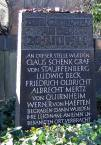 Remembrance stone in Berlin/Yorckstrasse cemetery. Here the corpses were buried and then moved to an unknown place.