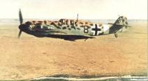 Messerschmitt Bf 109 leopard camo of Luftwaffe ace Werner Schroer.