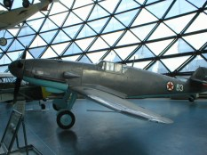 Messerschmitt Bf 109 G-2 with Yugoslav Air Force markings captured and used by Yugoslav Partisans during World War II.