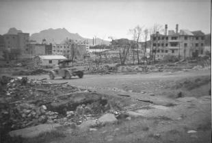 The city of Bodø, two years after being bombed by the Luftwaffe.