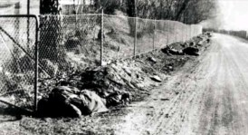 "Dead British ""Green Howards"" after the battle at Otta, Norway on 28 April 1940."