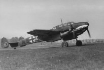 A ZG 76 Bf 110C similar to those flown by Helmut Lent.