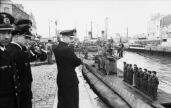 Karl Dönitz inspecting the Saint-Nazaire submarine base in France, June 1941.