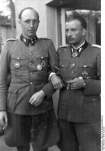 Fegelein (right) with Karl Gesele , 1942.