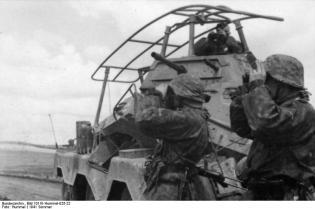 "Russland, SS-Division ""Wiking"", Panzerspähwagen"