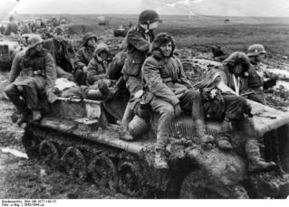 Soldiers of the 3rd SS Division Totenkopf on the Eastern Front.