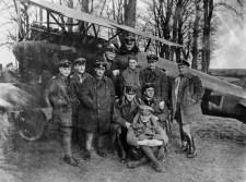 Manfred von Richthofen with other members of Jasta 11, 1917 as part of the Luftstreitkräfte.