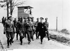 Himmler, Ernst Kaltenbrunner, and other SS officials visiting Mauthausen concentration camp in 1941.