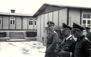 Kaltenbrunner with Himmler and Ziereis at Mauthausen in April 1941.