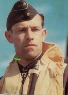 Heinrich Ehrler wearing life-jacket.