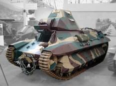 The last surviving FCM 36 in the Musée des Blindés in Saumur.