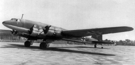 A former Fw 200 A airliner used as a Luftwaffe transport.
