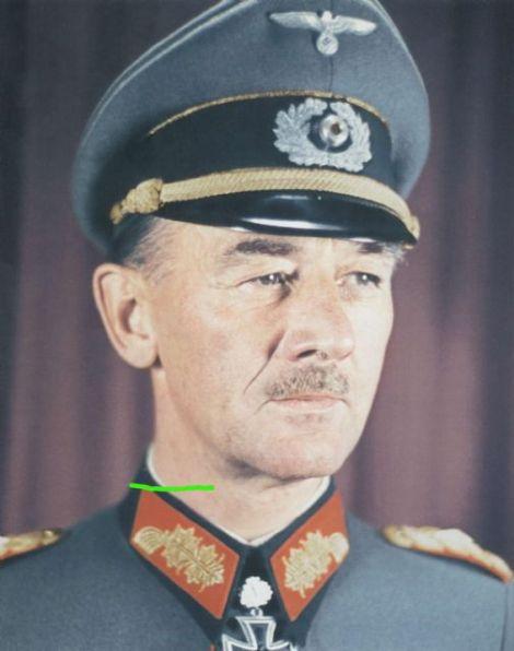 Hans Freiherr von Funck as a Generalleutnant.