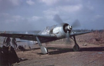 An Fw 190 A-8/R2 in American hands. This Fw 190 was captured during Bodenplatte.