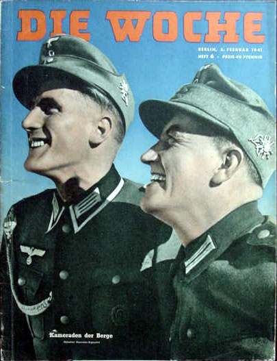 "Gebirgsjäger on the cover of ""Die Woche"" magazine."