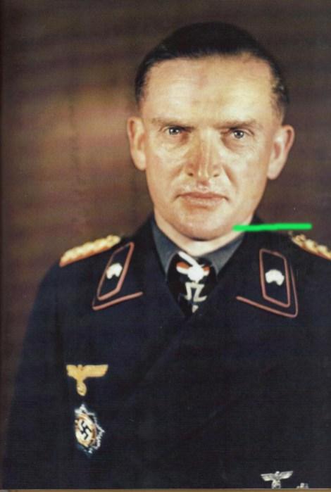 Karl Decker after receiving Eichenlaub