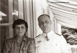 Generalmajor Erwin Rommel, Commander of 7. Panzer-Division, photographed together with his beloved wife, Lucia Maria Mollin, while wearing Weißer Dienstrock (summer white uniforms).