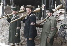 German National Militia 'Volkssturm' armed with Panzerfaust.