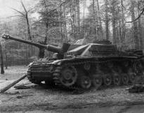 German StuG III Ausf. G, captured in the woods near Kiev.