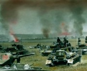 German panzers in the Russian steppe.