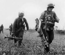 German stretcher bearer.