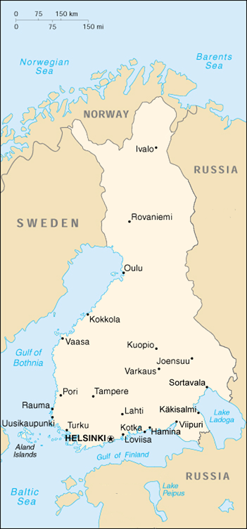 The Grand Duchy of Finland, as the country was named until 1917.